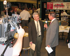 Interviewing Past President of the Montana Grain Growers Association, Lockie Edwards, at the MGGA Convention in Great Falls